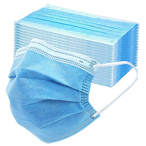 50PCS Disposable Face 3 Layer Anti-Dust Earloops Protective Cover Mask(Blue) 1