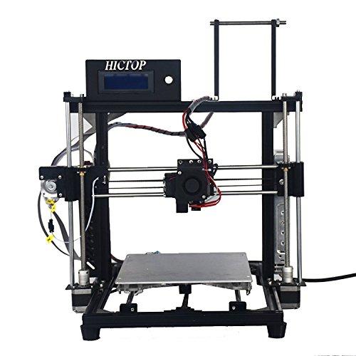 HICTOP Reprap Prusa i3 3D プリンターキット DIY アルミニウム合金 未組立 黒 3dp11-bk