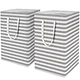 WISELIFE 2-Pack Laundry Hamper 75L Collapsible Large Laundry Baskets with Easy Carry Handles...