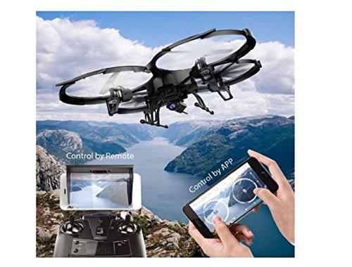Drone U818A WiFi FPV Drone con telecamera HD 720P | Drone con telecamera intelligente Quadcoptere modalit con batteria a lunga durata di volo Drone per i debutanti | Occhiali 3D in regalo