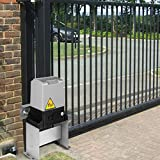 OrangeA Automatic Gate Opener 3100lb with Infrared Security Photocell Sensor with 2 Remote Controls Sliding Gate Opener Move Speed 40ft Per Min