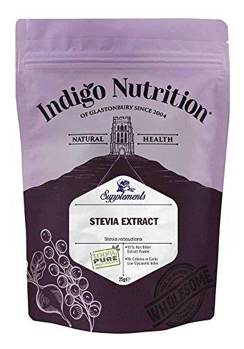 Indigo Herbs Stevia en polvo Extracto del 97% 25g