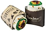 Rainbow Socks - Femme Homme Chaussettes Fantaisie Tortilla Wrap - 2 paires - Taille UE 41-46
