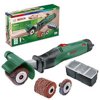 Bosch ponceuse multifonctions Texoro (250 W, 3 accessoires, coffret d'accessoires, dans carton)