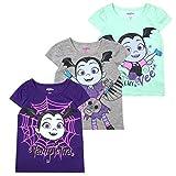 Disney Princess T-Shirts for Girls  3 Pack Short Sleeve Graphic Tees, Vampirina Grey, 6