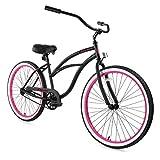 ZYCLE Fix Women's Zf Bike-26' 7 Speed Classic Beach Cruiser Bicycle, Blacky, 17'/One Size