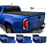 Tyger Auto T1 Soft Roll Up Truck Bed Tonneau Cover for 2004-2012 Chevy Colorado / GMC Canyon; 2006-2008 Isuzu I350  Fleetside 5'1' Bed  TG-BC1C9001