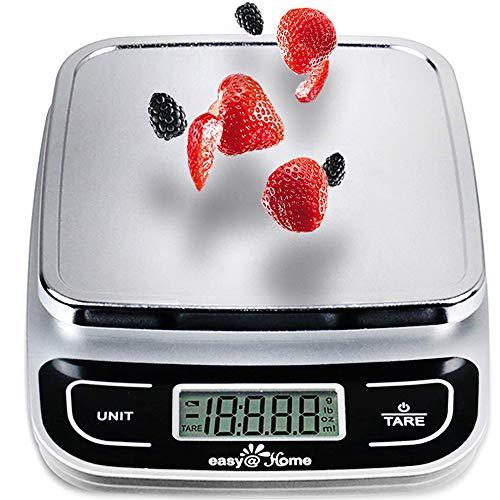 Easy@Home Scala Alimenti/Bilancia da cucina con alta precisione alla capacit 0.04oz e 11 libbre, digitale multifunzione scala di misurazione