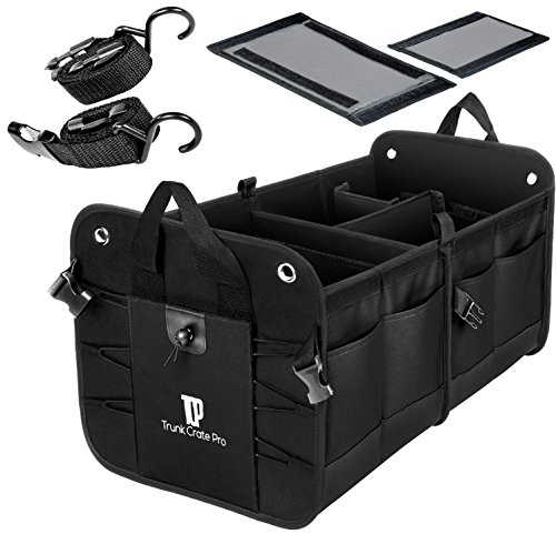 Trunkcratepro Collapsible Portable Multi Compartments Trunk Organizer,...