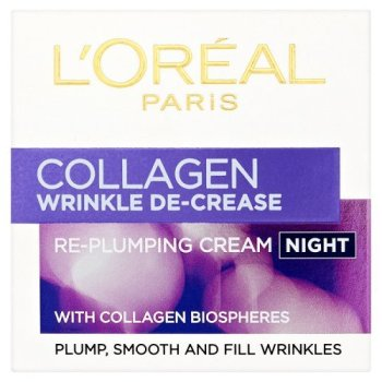 Anti-Ageing by L'Oreal Paris Collagen Wrinkle Decrease Re-Plumper Night Cream 50ml