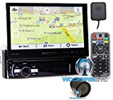 pkg Soundstream VRN-75HB In-Dash 1-DIN 7' DVD Receiver with Bluetooth, GPS Navigation and Android PhoneLink with XO Vision HTC 35 Backup Camera with Nightvision