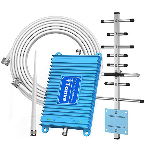 Cell Phone Signal Booster 2G 3G Band 2 and Band 5 850/1900Mhz Cell Signal Booster Cell Phone Repeater Amplifier for Home and OfficeIncrease Data Speed and No More Dropped Calls