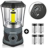 Monomax LED Camping Lantern Battery Powered 1500 Lumen COB Camping Light 4D Batteries(Included) Perfect for Camp Hiking Emergency Kit