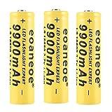Li-ION 18650 Batterie 9900mAh Piles Rechargeables 3.7V Batterie 18650 Longue...