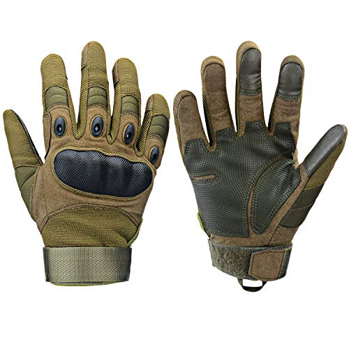 Xnuoyo Gomma dura Knuckle Full Finger e Mezza Finger Gloves Guanti di protezione Touch Screen Guanti...