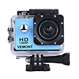 Vemont Action Camera 1080P 12MP Sports Camera Full HD 2.0 Inch Action Cam 30m/98ft Underwater...
