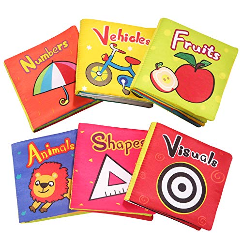 TOP BRIGHT Soft Cloth Books for Babies First Year, Baby Toys...