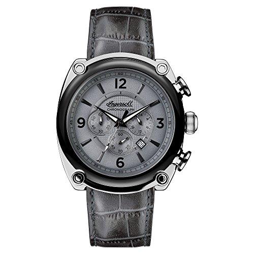 Ingersoll Herren Analog Quarz Uhr mit Leder Armband I01201