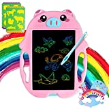 Toys for 3 4 5 6 Year Old Girls and Boys LCD Writing Tablet 8.5 inches Colorful Doodle Board Drawing Board, Birthday Present for 2-6 Years Old Girl, Gifts for Little Kids - Pink Pig