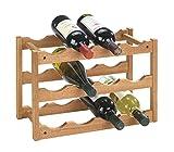 WENKO Etagère à vin Norway - pour 12 bouteilles, Bois de noyer, 42 x 28 x...
