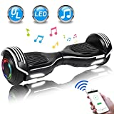 UNI-SUN 6.5' Hoverboard for Kids, Two Wheel Electric Scooter, Self Balancing Hoverboard with Bluetooth and LED Lights for Adults, UL 2272 Certified Hover Board(Bluetooth Black)