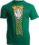 Leprechaun Tuxedo | Funny St. Patrick's Day Irish Paddy Costume for Men T-Shirt-Adult,L