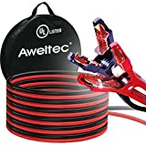 AWELTEC UL-Listed Jumper Cables, 6 Gauge 16 Ft Battery cables for car, Heavy Duty Booster Cables with Carry Bag (6AWG x 16Ft)
