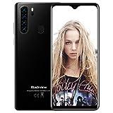 Smartphone Débloqué 4G, Blackview® A80 Pro(2020),Ecran 6,49 Pouces, 4Go+64Go Dual SIM Téléphone Portable, Quatre Caméras, Batterie 4680 mAh, Android 9.0, Type C, Reconnaissance Faciale, Fingerprint