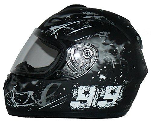 Protectwear Casque moto intégral, noir / gris, conception 99, FS-801-99, Taille: S