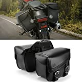 kemimoto バイク サイドバッグ 防水 サイドバッグ レブル250 ADV150 セロー250 汎用 バイク サドルバッグ 2PC 大容量30L ツールバッグ 収納 耐久性 ブラック