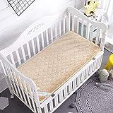 FF Quilted Waterproof Mattress for Baby Crib, Non-Slip mat for Tatami Flooring Soft Sleeping mat Mattress for cot Topper in Foam Mat-a 70x140 cm (28x55 inches)