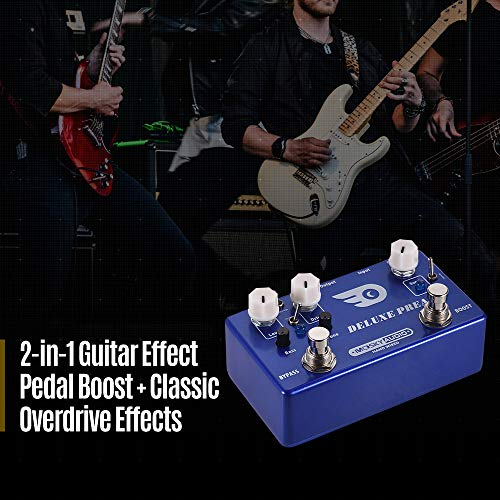 Bedler DELUXE PREAMP 2-in-1 Guitar Effect Pedal Boost + Classic Overdrive Effects Full Metal Shell with True Bypass
