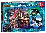 Ravensburger- 3 Puzzles de 49 Pièces - Apprivoiser les Dragons 3 Puzzle Enfant, 4005556080649