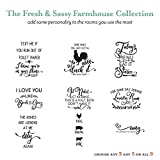Farmhouse Vinyl Decals - Vinyl Lettering Wall Quotes - The Farmhouse Fresh and Sassy Collection Bundle - Create your own bundle of Wall Decals - WB1610