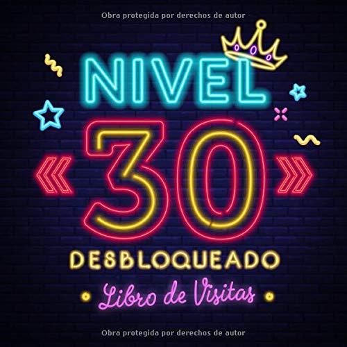 Nivel 30 desbloqueado: Libro de visitas para el 30 cumpleañ