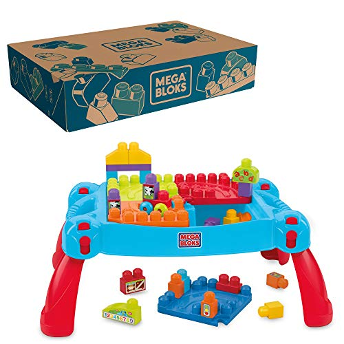 MEGA Bloks CNM42 - First Builders Tavolino Multi attività, 3 in 1
