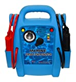 Cal-Van Tools Allstart 556 Marine Jump Starter with AC Inverter, Multi-Position Light, 4 Gauge Cables, Cable Clamps, Battery Status Indicator. Automotive Accessories,One Size