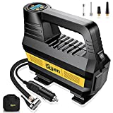 iSyan Air Compressor for Car Tires, DC 12V Portable Air Compressor Tire Inflator with Digital Pressure Gauge, Auto Air Pump 150PSI with LED Light for Car, Bicycle, Trucks, Ball and Other Inflatables