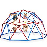 Play Wild Kids Climbing Dome Jungle Gym - 10 ft Outdoor Geodesic Dome Climber for Kids, Supports 750lbs, Extra Rust Protection Easy Assembly - 3 Year Warranty
