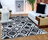 Antep Rugs Elite Collection Geometric Contemporary Distressed Indoor Area Rug (Grey, 5' x 8')