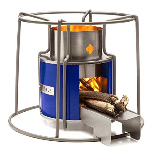 Affirm Global IT117469B-Blue Wood Burning EZY Stove, Blue