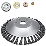 SYITCUN 8inch Weeds Trimmer Head Cutter Replacement for String Trimmers Wire Wheel Brush Steel Wire Grinder Brush for Angle Grinder Rust Paint Grass Weed Removal Multifunctional Tools