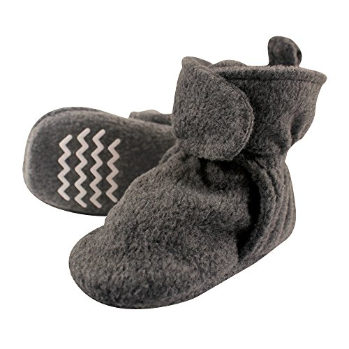 Hudson Baby Unisex Cozy Fleece Booties, Dark Gray, 0-6...