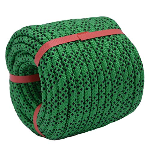 YUZENET Braided Polyester Arborist Rigging Rope (3/8' X 100') Strong...