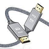 Câble HDMI 4k Ultra HD[2m],Câble HDMI 2.0 en Nylon Tressé avec Ethernet 3D,4K...