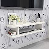 Urban Guru TV Entertainment Wall Unit Engineered Wood, Wall Set-top Box Stand, Modern TV Cabinet, Living Room Storage Space Home Decor