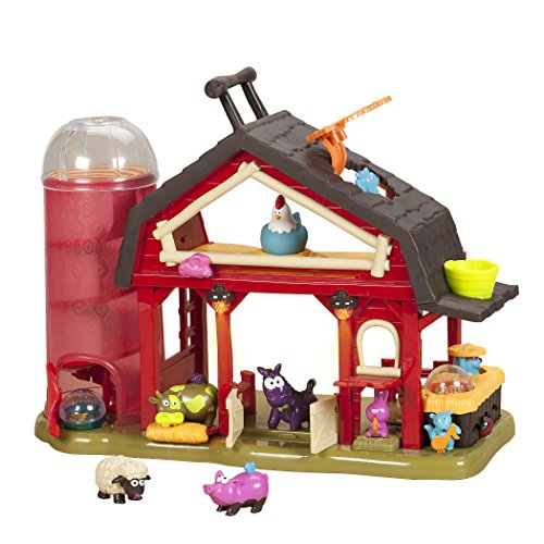 B. Toys – Baa-Baa-Barn Musical Farm Set – Lights & Sounds Toy Barn for Kids 2+ (7Pcs)