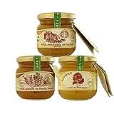 Pack 3 botes de miel pura de ajedrea, romero, y flora serrana