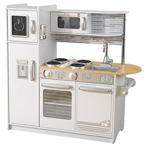 KidKraft - Uptown Cucina Giocattolo in Legno, Colore Bianco, 53364