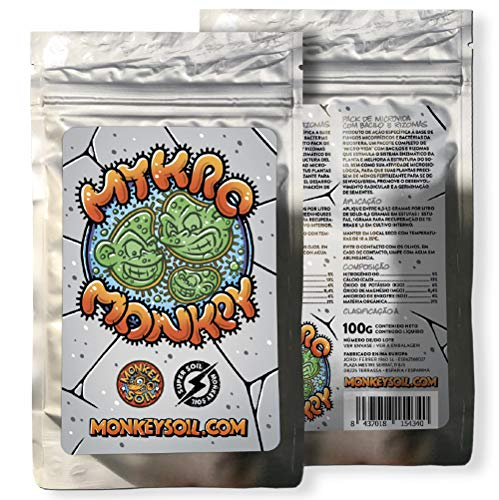 Fertilizante Plantas Abono Solido Pack Hongos Microvida Organico Natural - El Mejor Fertilizante - Sustrato Vegetal para Plantas Cultivo Marihuana Cannabis - Horticultura Bio Ecologicos 100G